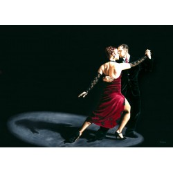 "Richard Young ""The Rhythm of Tango"" Author's licensed image with tango dancers for Home Decor Design"