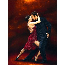 "Richard Young ""Tango Moment"" Author's licensed image with tango dancers in a vertical format"