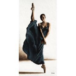 """Young """"Equilibrium"""" immagine d'Autore in verticale con ballerina moderna - Seducente quadro in bianco e marrone"""