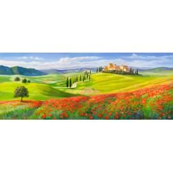 """Galasso - """"Borgo in Toscana"""". Quadro con tipica immagine di campagna italiana in Misure Multiple e Grande Formato"""