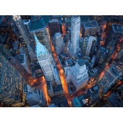 "Davidson,""Aerial Wall Street""- HQ Art Poster,Canvas or HandMade ReadyToHang product"