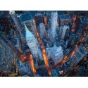"""Davidson,""""Aerial Wall Street""""- HQ Art Poster,Canvas or HandMade ReadyToHang product"""