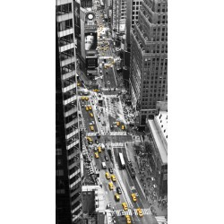 """Michel Setboun""""Yellow Taxi in Times Square"""" Art Poster,Canvas o Quadro Finito Artigianale"""