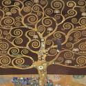 """Klimt """"L'Albero della Vita (variante marrone)-Stampa Fine Art con Misure multiple e Supporti diversi per Soggiorno o Camera"""
