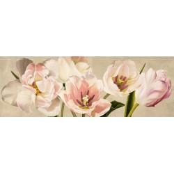 """Luca Villa""""White Flowers"""",quadro pittorico con Tulipani Bianchi misure e supporti a scelta"""