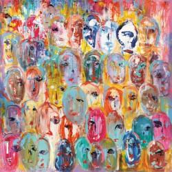 """Italo Corrado""""Facebook"""", 100x100cm or others, Canvas, Poster or Ready To Hang"""