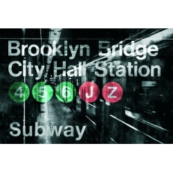 "Luke Wilson""NYC Subway Station 1"". Author's Photographic Picture in black & white. Size by choice"