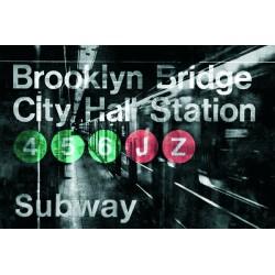 """Luke Wilson""""NYC Subway Station 1"""" Metropolitana di New York B/N per soggiorno. Misure e supporti a scelta"""