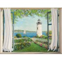 """Finestra sul Faro"",Del Missier. Design Picture with Pictorial View from a Window towards the lighthouse"