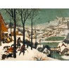 """Hunters in the Snow"", Pieter Bruegel The Elder. Well known, museal classic Mountain View in Winter"