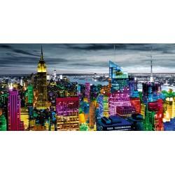 """Carly Ames""""NYC in Living Colour"""" quadri moderni new york foto B/N con settori colorati. Misure a scelta"""