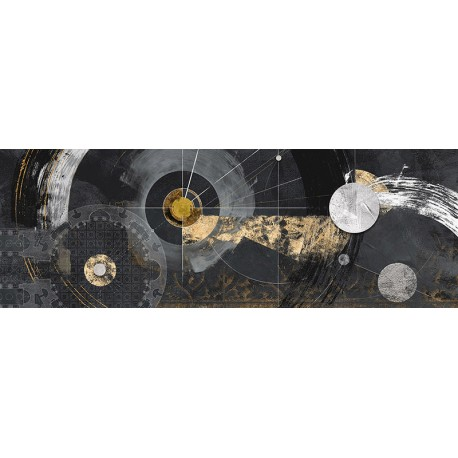 """Arturo Armenti """"Rinascimento"""" quadro astratto nero post-moderno per arredi moderni o classici"""