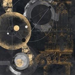 Proporzione - Arturo Armenti, quadro astratto nero con oro per arredi moderni o classici