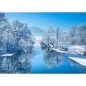Frank Krahmer - Winter Landscape. Art Poster,Canvas arrotolato o Quadro Pronto con fiume e neve