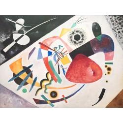 Wassily Kandinsky - Roter Fleck - quadro stampa museale Canvas o Carta Pesante