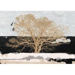 """Alessio Aprile """"Albero Dorato"""" - best seller d'Autore con maestoso albero in bianco nero e oro"""