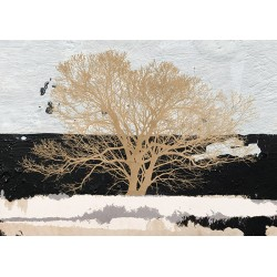 "Alessio Aprile""Golden Tree""- Home Decor Best Seller with magnificent tree in B&W"