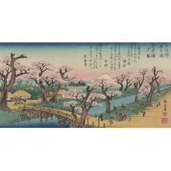 """Hiroshige""""Evening Glow detail"""".Riproduzione Originale per Soggiorno o Camera con Ritocco"""