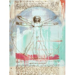 "Eric Chestier ""Vitruvian Man 2.0"" - iconic Da Vinci image in a new Pop Art version for HD!!"