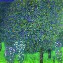 Gustav Klimt- rose sotto gli alberi Stampa Fine Art su Canvas Misure Multiple