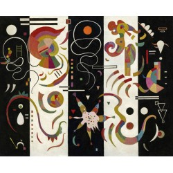 Wassily Kandinsky - Striped (Rayé) - quadro stampa Originale su Canvas, Poster o Pronto da appendere