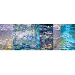 Monet Deco-Ninfee 1. Nuova composizione di design dalle Classiche Ninfee di Monet. Possibilità di Ritocco