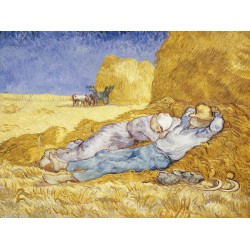 Vincent Van Gogh-Noon:Rest. HQ Fine Art print on Canvas or Artistic Paper.Ready To Hang product available