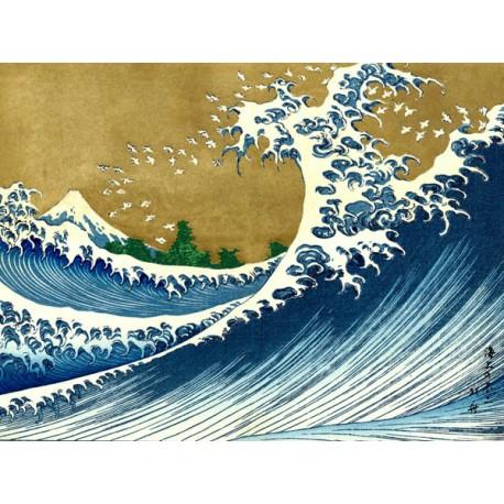 """""""The Big Wave""""Hokusai,Quadro Pronto con Stampa Fine Art per Soggiorno, Ufficio o altro"""