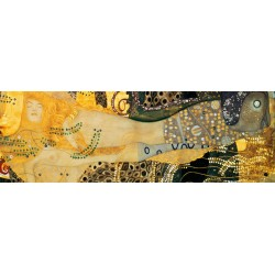 """Gustav Klimt """"Serpenti d'Acqua 1 (detail)"""" - Quadro Classico Originale per Soggiorno o Capezzale"""