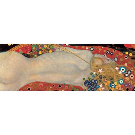 """Gustav Klimt """"Bisce di Mare 1 (detail)"""" - Quadro Classico Originale per Soggiorno o Capezzale"""