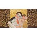 """Klimt Patterns """"Motherhood II"""" Capezzale Moderno dalla maternità di Klimt. Misure e Supporti a scelta"""