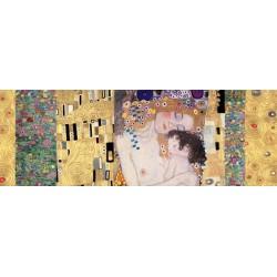 """Klimt Patterns """"3 Ages Deco Panel"""" - Capezzale Moderno dal Classico di Gustav Klimt anche per Soggiorno"""