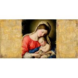 """Simon Roux """"Holy Virgin (after Sassoferrato)"""" - Capezzale Maternità per testiera da Artigianato Veneto"""