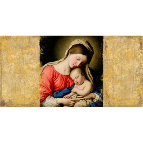 """Simon Roux """"Holy Virgin (after Sassoferrato)"""" - Awesome on demand picture with mother and child"""