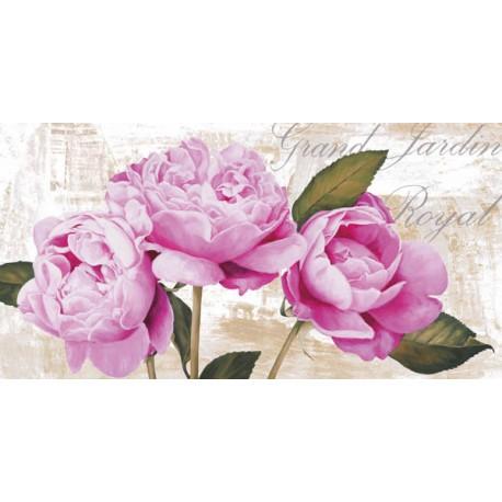 Jenny Thomlinson - Grand Jardin Royal, quadri moderni peonie rosa ravvicinate in misure e supporti a scelta