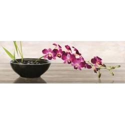 """Shin Mills """"Orchid Arrangement"""". Quadro shabby per divani, capezzali o caminetti. orizzontale extra-largo"""