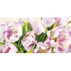 Luca villa - Tulipes En Fleur ,quadri moderni tulipani rosa ravvicinati in misure e supporti a scelta