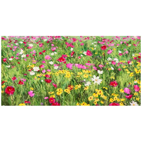 """Mei """"Field of Flowers"""" HQ Original print on Canvas, Paper or Ready to Hang product. Large sizes available"""