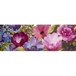 "Nel Whatmore ""Thinking of you"", horizontal Picture with purple flowers for living or bedroom"