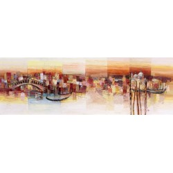 "Luigi Florio ""Sognando Venezia"" Home Decor Art Picture with Venice landscape, low and wide format"