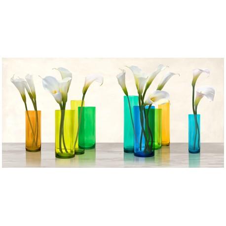 Cynthia Ann - Callas in crystal vases Quadro Moderno Stile Baroque, possibilità di Grande Formato