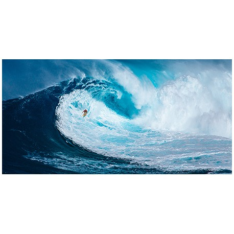 """Pangea """"Surfing on the Big Wave"""", Photo Picture for Home Decor, Canvas or Paper"""