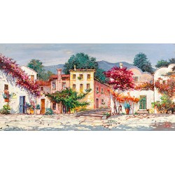 "Luigi Florio ""Mediterranean Village"" high quality print or ready to hang, size & stuff by choice"