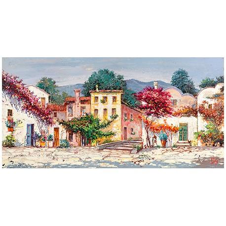 "Luigi Florio ""Mediterranean Village"" high quality print or ready to hang, size & stuff by choice"