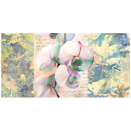 "Kelly Parr ""Orchid"" horizontal Picture with orchid for living or bedroom in a Shabby Style"