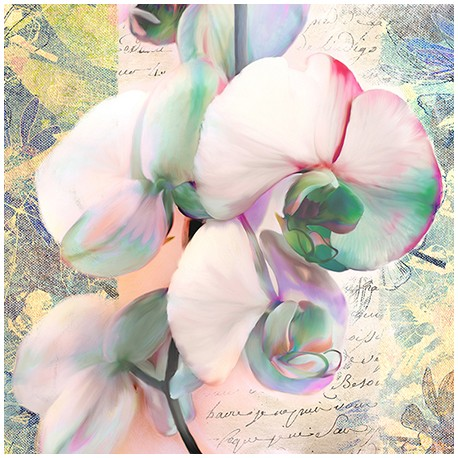 "Kelly Parr ""Orchid"" (detail) Picture for living or bedroom in a Shabby Style"