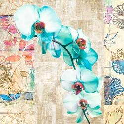 "Kelly Parr ""Orchid 2"" (detail) Quadro shabby con orchidee, supporti e misure a scelta"