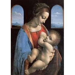 Leonardo Da Vinci - Madonna e Bambino Gesù .Stampa Museale del Celebre Quadro Classico per Capezzale
