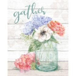 MARY URBAN SOFT PETALS I quadri moderni con fiori in viola e bianco, tela intelaiata