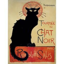 """Chat Noir"",Alexandre Steinlen. Quadro Vintage con Stampa Fine Art su Canvas o Carta."